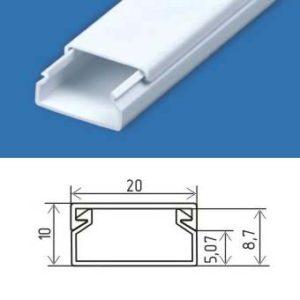 Он используется для устройства внешней проводки в жилых и нежилых помещениях.