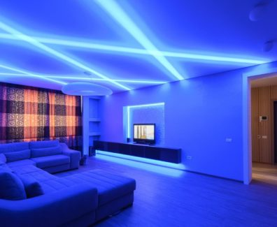 Освещение потолка светодиодной лентой